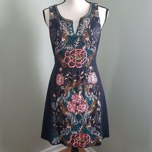 Anthro Embroidered Perennial Dress